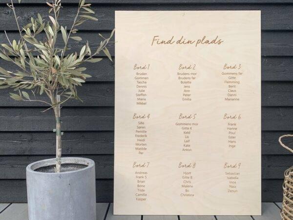 bordplan i træ