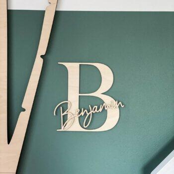 Navneskilt til døren - inkl. stort bogstav