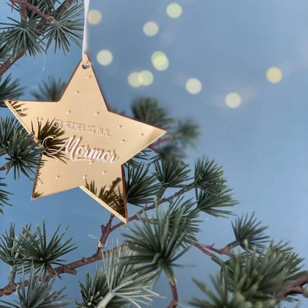 snefnug juleophæng guld