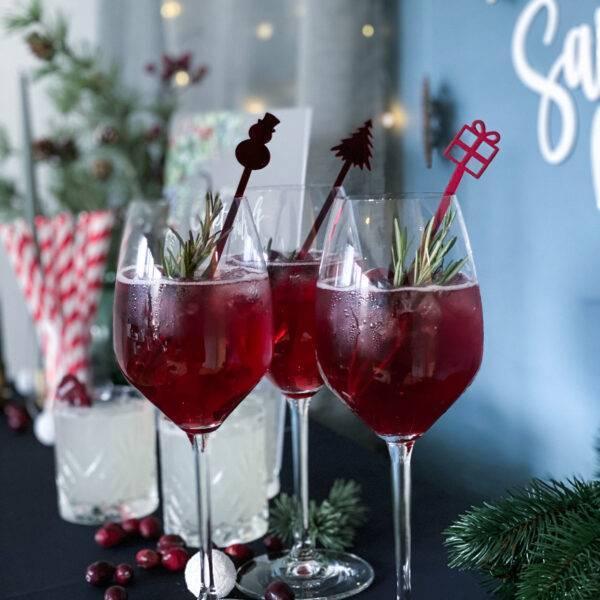drinkspinde jul rød spejl