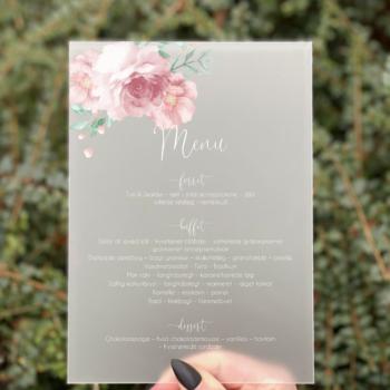 Blossom menukort konfirmation pige