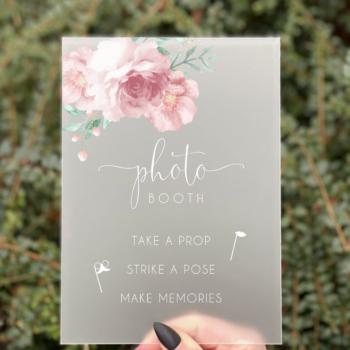 Blossom photobooth skilt konfirmation pige
