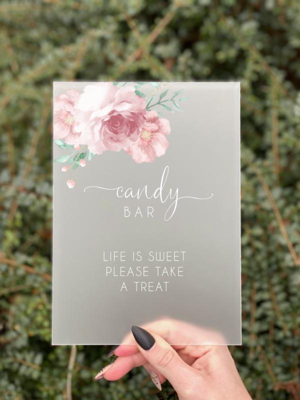 Blossom Candy Bar skilt konfirmation pige