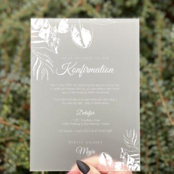 Jungle invitation konfirmation
