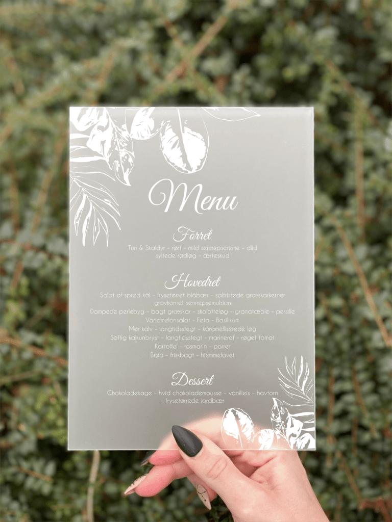 Jungle menukort konfirmation