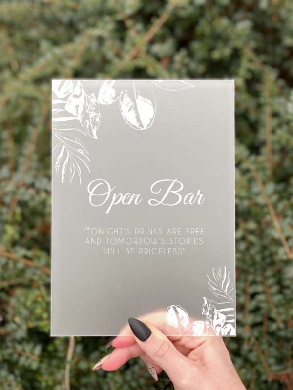 Jungle open bar skilt konfirmation