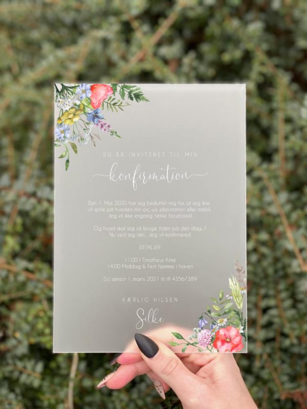 invitation blossom konfirmation pige Summer Gardeen