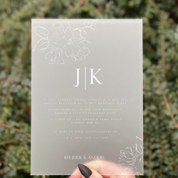 invitation bryllup akryl Magnolia