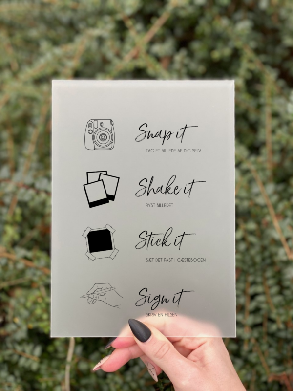 simplicity polaroid gæstebog skilt dreng konfirmation