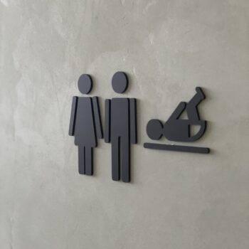 toilet ikoner sort mat
