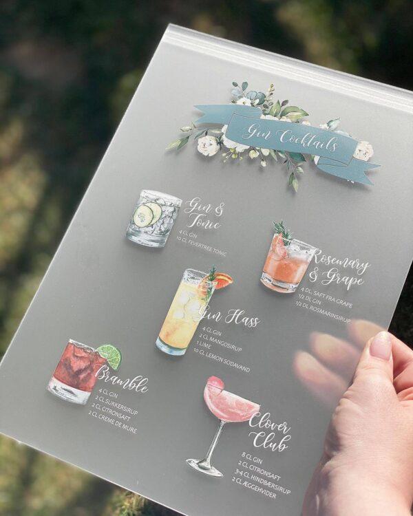 gin opskrifter barkort akryl