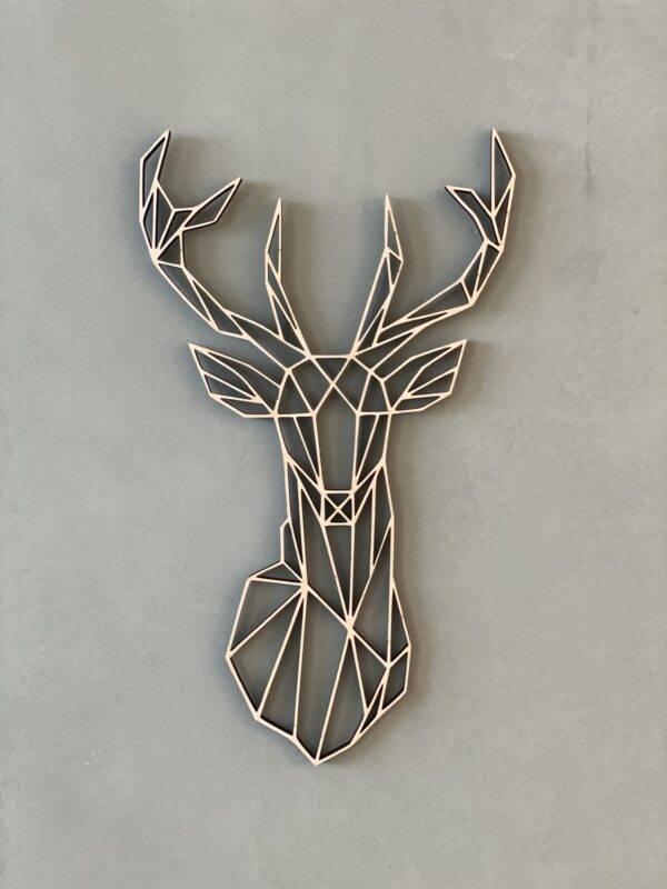 hjort geometrisk figur til hjemmet træ