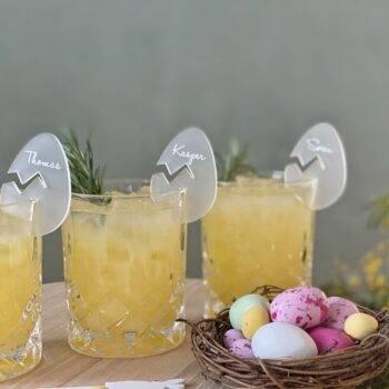 Bordkort til glas coronavenligt påske bordkort æg
