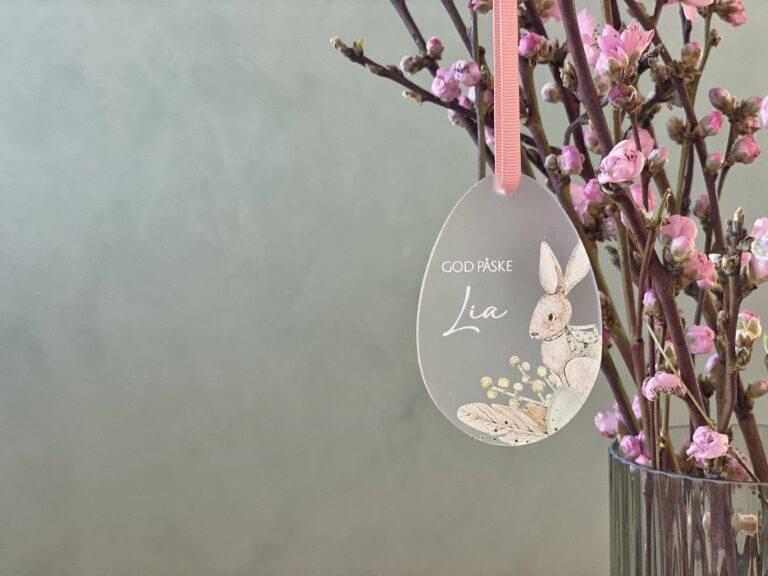 Påskeæg bordkort til påske frosted akryl