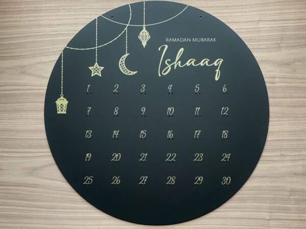 ramadan kalender sort akryl med guld