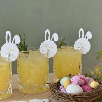 Bordkort til glas coronavenligt påske bordkort