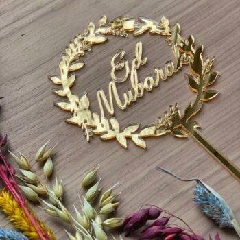 Eid mubarak caketopper guld
