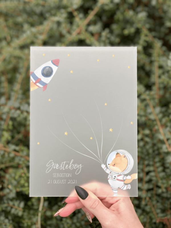 gæstebog barnedåb skilt med fingeraftryk til gæsterne rum tema skilt basic