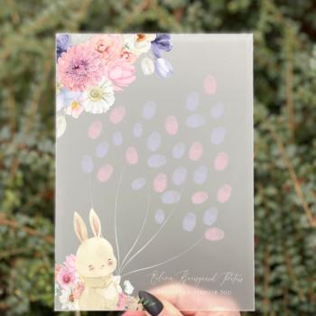 gæstebog fingeraftryk pige barnedåb