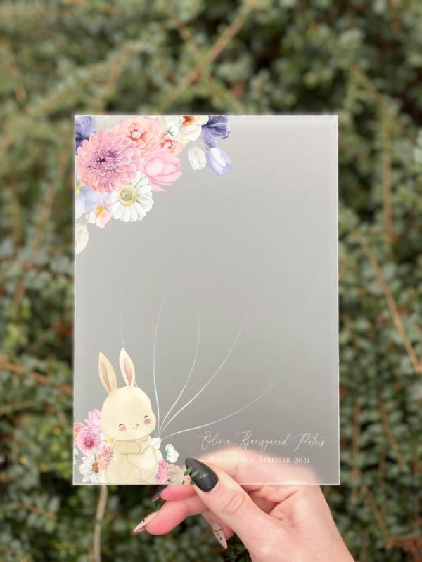 gæstebog fingeraftryk pige pastel flora