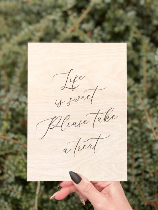 Life is sweet birketræ