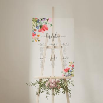 Wild flower bordplan klar akryl højkant
