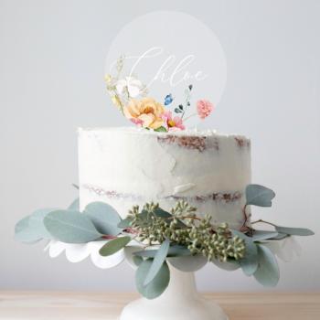 custum caketopper akryl fest og bryllup