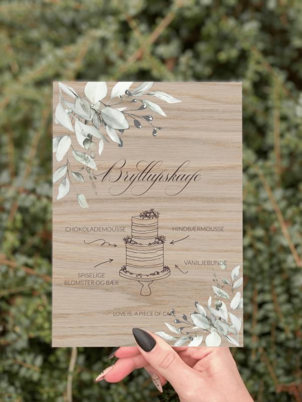 kagesilt botanical design 1 egetræ bryllup