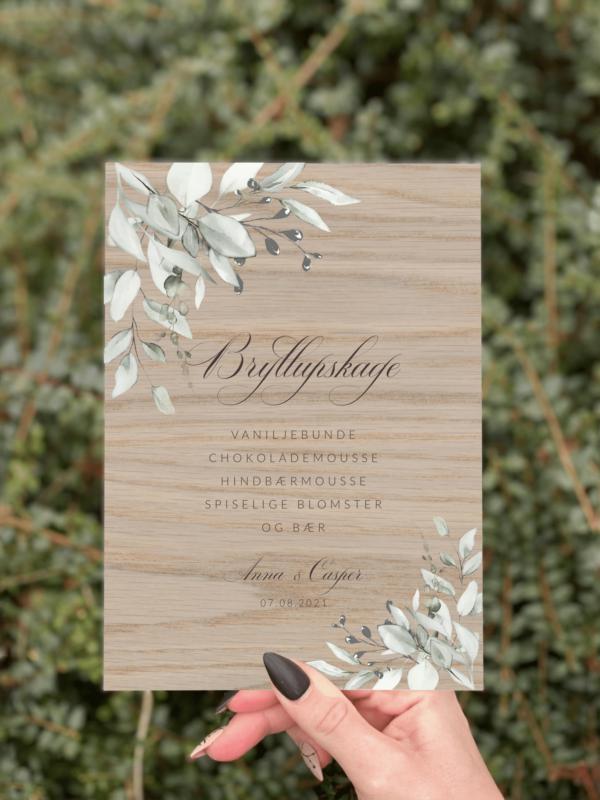 kagesilt botanical design 2 egetræ bryllup