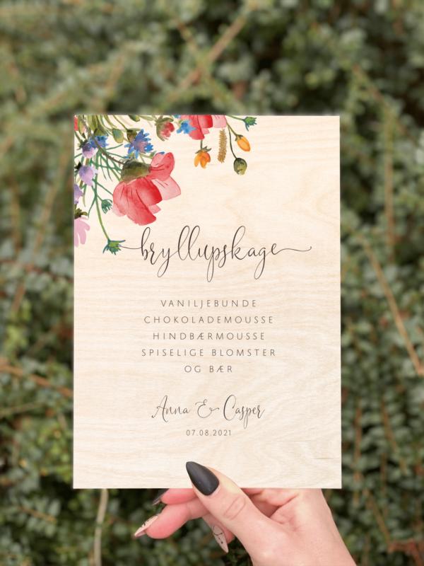kagesilt wild flower design 2 birketræ bryllup