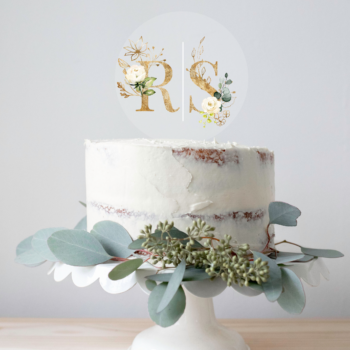rose caketopper bryllup