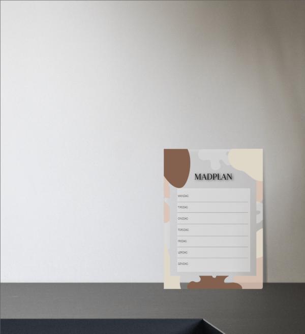madplan til boligen lille i akryl, design Oslo beige