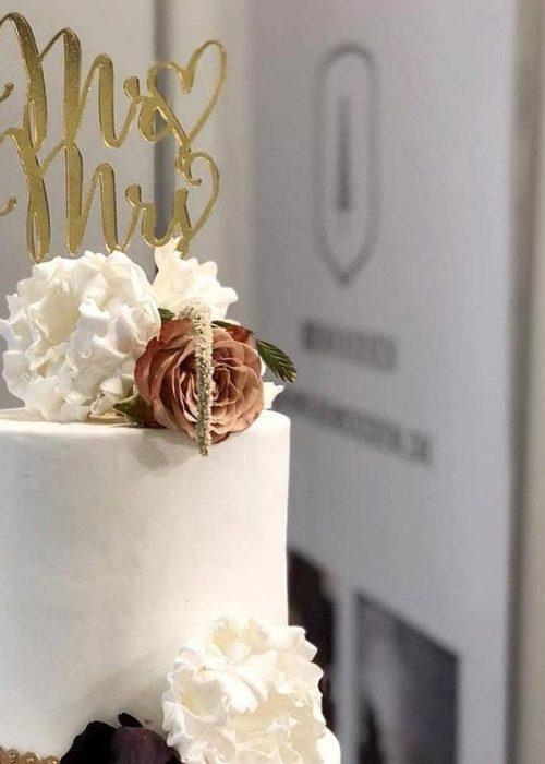 CreativeWood Caketoppe bryllup kage