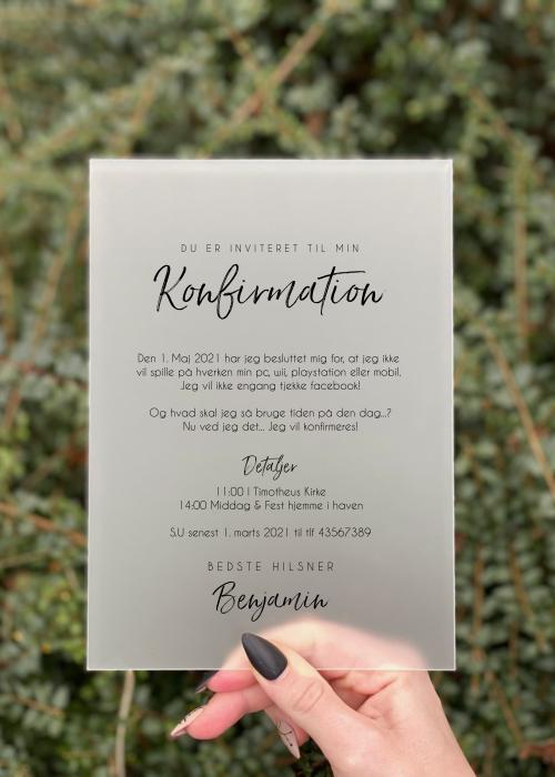 simplicity invitation konfirmation dreng